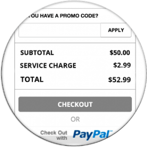 Gift Card Pricing Table Example