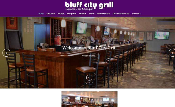 web design Bluff City Grill alton