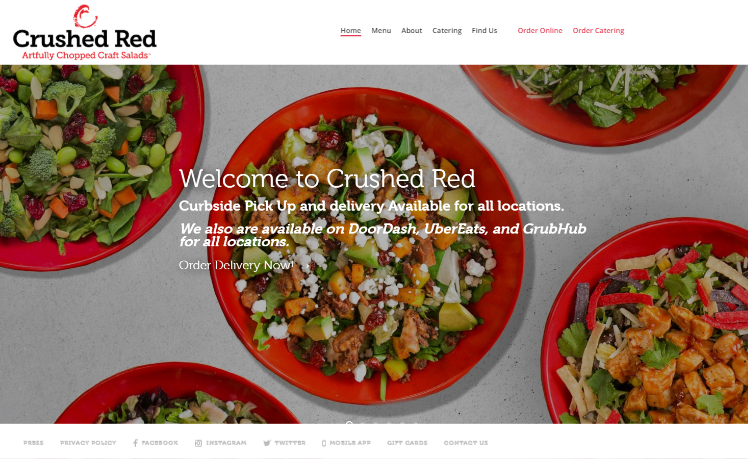 web design Crushed Red saint louis