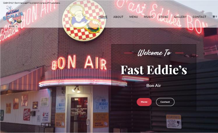 web design Fast Eddie's alton