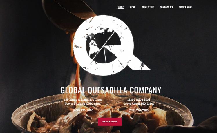 web design Global Quesadilla Company stl