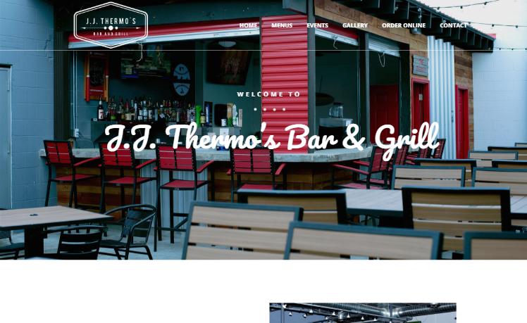 web design JJ Thermos Bar and Grill alton