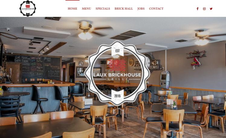 web design Laux Brickhouse Grill bethalto