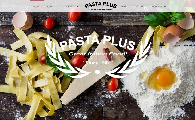 web design Pasta Plus clayton