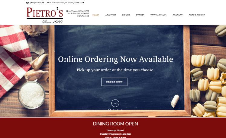 web design Pietros st louis