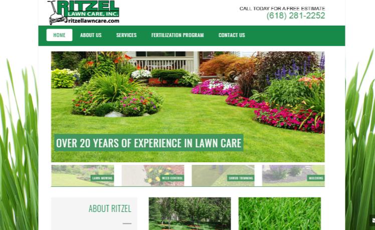 web design Ritzel Lawncare stl
