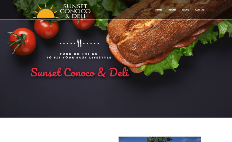 web design Sunset Conoco & Deli saint louis