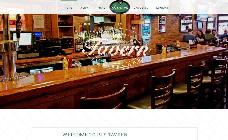 web designer PJ's Tavern kirkwood