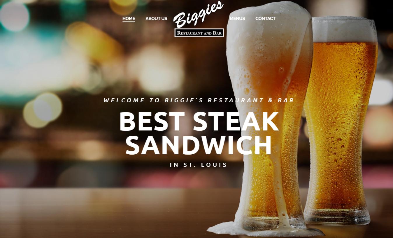 web development biggie's restaurant stl