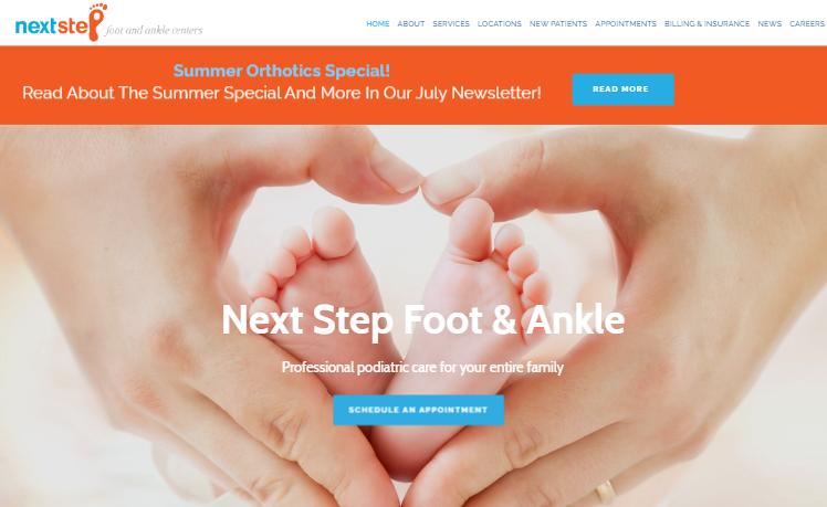 website development Next Step Foot & Ankle st peters